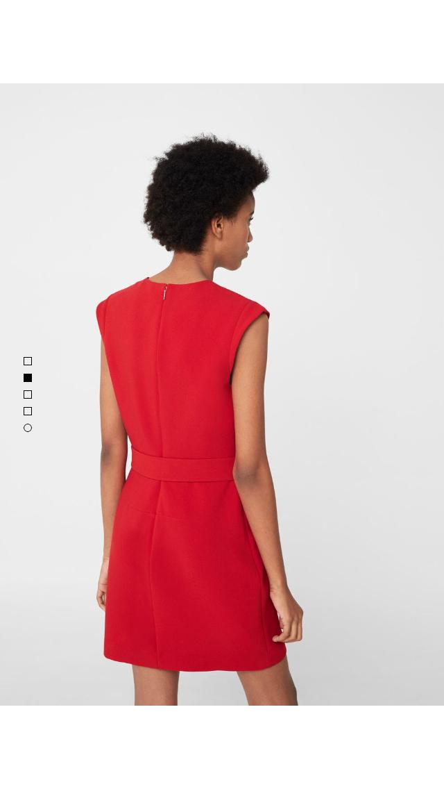 Red dress mango